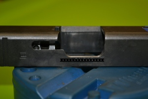 The curvature of the factory ejection port is maintained