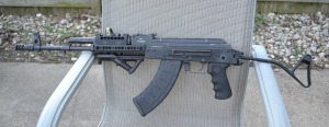 The Sporter Had An AKM Receiver Which Takes Fixed Butt Stocks But The Client Wanted A Folding Stock.  AKM Rear Trunnions Have To Be Changed To An AKS Or Folding Trunnion Which Is Possible But Costly.  So To Keep Cost Down A Polish Side Folding Stock Was Installed Which Can Be Used With An AKM Rear Trunnion.